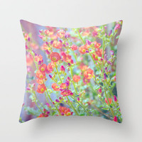 Garden Song Throw Pillow by Shawn Terry King