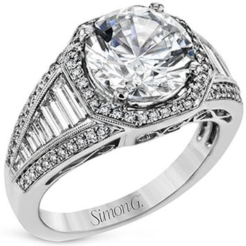 Princess Kylie Round Center Baguette Sides Cubic Zirconia Channel Set Wedding Ring Sterling Silver
