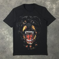 The dog's black short sleeved T-shirt printing [10159720711]