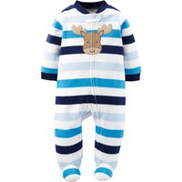 Child of Mine by Carter's Newborn Baby Boy Microfleece Sleep N Play - Walmart.com