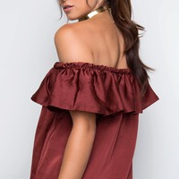 Sophie Off The Shoulder Top - Rust