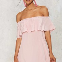 After Party Vintage After Forever Ruffle Dress - Blush