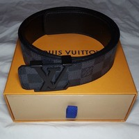 LV Black Damier Belt Size 95