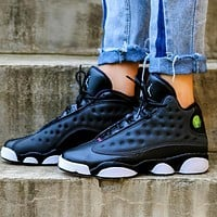 Air Jordan 13 AJ13 Fashion Women Men Sport Basketball Shoes Sneakers Black&White