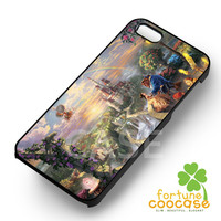 Beautiful Beauty and the Beast Painting -end for iPhone 4/4S/5/5S/5C/6/6+,samsung S3/S4/S5/S6 Regular/S6 Edge,samsung note 3/4