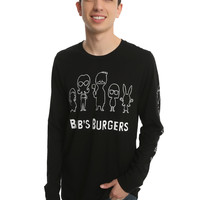 Bob's Burgers Chibi Family Outline Long-Sleeve T-Shirt