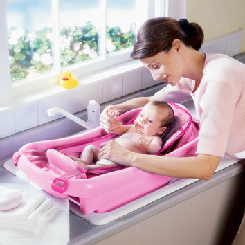 Walmart: The First Years - Newborn-to-Toddler Tub with Sling, Pink