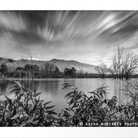 """""""Windy Clouds At The Lagoon"""" BW by Guido Montañés"""