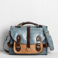 Authentically Academic Bag in Dusty Blue | Mod Retro Vintage Bags | ModCloth.com