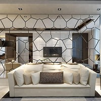 3D Geometric Mirror Wall Stickers For Wall Decor