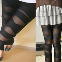 Cut-Out Leggings Pants