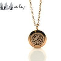 Diffuser Necklace - Rose Gold Pattern