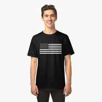 ' USA flag - HiDef Super Grunge Patina' Classic T-Shirt by Bruce Stanfield