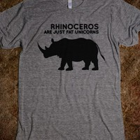 FUNNY T SHIRT, FUNNY T SHIRT DESIGN, RHINOCEROS, FAT UNICORNS