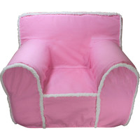Pink Sherpa Chair Cover for Foam Childrens Chair