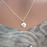 Simple K Initial Necklace