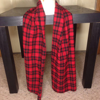 Toddler Boy's Plaid Scarf-Boy's red scarf-Kid's scarf-Handmade-Father and Son Scarves-Atlanta Falcons-Chicago Bulls-Scarf-Winter Scarf-