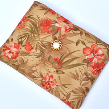 Hand Crafted Tablet Case from Floral Fabric/Case for:iPad,Kindle Fire HDX,Samsung Galaxy Tab, Google Nexus, iPad Air, Nook HD