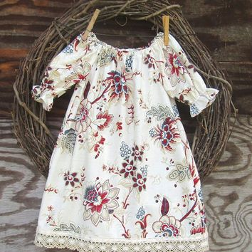 Floral Toddler Kids Newborn Baby Girls Dress Long Sleeve Party Pageant Dresses