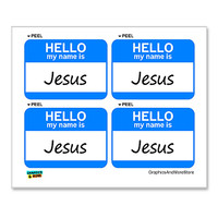 Jesus Hello My Name Is - Sheet of 4 Stickers