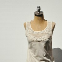 J. CREW Pintuck Lace Shell Tank Top NEW