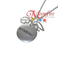 RIVERDALE Betty and Veronica Initials Pendant Necklace