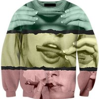 Harajuku Tumblr Hoodies Girl Smoking Weed Crewneck Sweatshirt 3D Print Tops fashion Sweats Women Men jumper outfits pullover