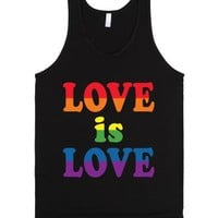 Love Is Love-Unisex Black Tank