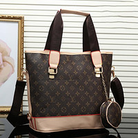 Louis Vuitton LV Classic Tote Bag Two-piece Set Zipper Tote Bag Check Letter Printing Fashion Ladies One Shoulder Messenger Bag