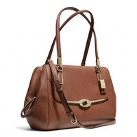 MADISON SMALL MADELINE EAST/WEST SATCHEL IN LEATHER