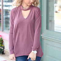 Cut It Out Long Sleeve {Red Bean}