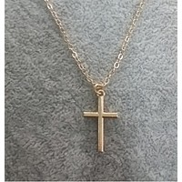 Metal Cross Necklace Women Chainbone Chain