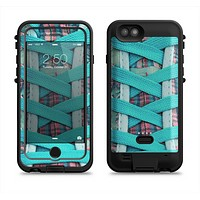 The Turquoise Laced Shoe Apple iPhone 6/6s LifeProof Fre POWER Case Skin Set
