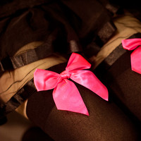 Socks by Sock Dreams » Opaque Thigh Highs with Bows