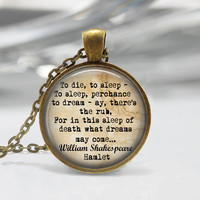 Shakespeare pendant Shakespeare Keychain Doubt thou the stars are fire Hamlet Quote Pendant or Keychain Jewelry