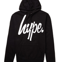 Hype Black Hoody with White Script
