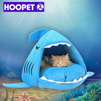 high quality pet bed shark shaped warm cat dog house