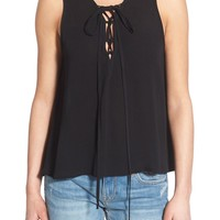 Painted Threads Lace-Up Tank | Nordstrom