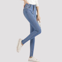 NEW fashion brand women skinny pencil jeans denim elastic pants washing color good quality woman casual jean pants