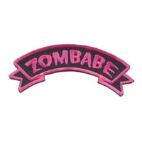 Creepy Zombie Dead Horror Gothic Embroidered Iron on Patch - Zombabe KV18