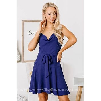 Yes Queen Woven Cami Dress | Royal Blue
