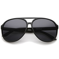 Retro Large Protective Polarized Lens Aviator Sunglasses 60mm