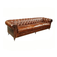 Chesterfield XL Leather Sofa | Vintage Brown Cigar