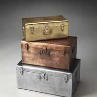 Butler Specialty Spirit Storage Trunks, Set/3 - 2744016