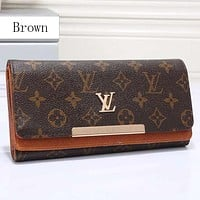 Louis Vuitton LV Women Leather Multicolor Wallet Purse
