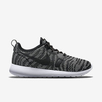 Nike Roshe Run One Knit Jacquard Black White 705217-100 Print Training Swoosh
