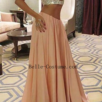 Custom-made Two Piece Prom Dresses, Two Piece Prom Dress 2016,Two Piece Evening Dresses