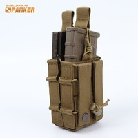 Military Tactical M4 Dual Rifle Magazine Pouch 5.56MM Mag Case Hunting Airsoftsports Paintball Gear
