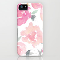 Muted Floral Watercolor Design iPhone & iPod Case by Jenna Kutcher