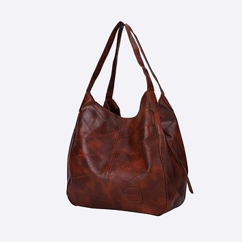 Women's Faux Leather Oversized Tote Bag